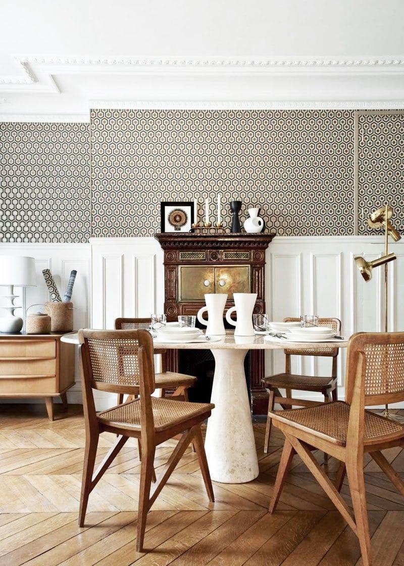 Glamorous Parisian dining room on @thouswellblog