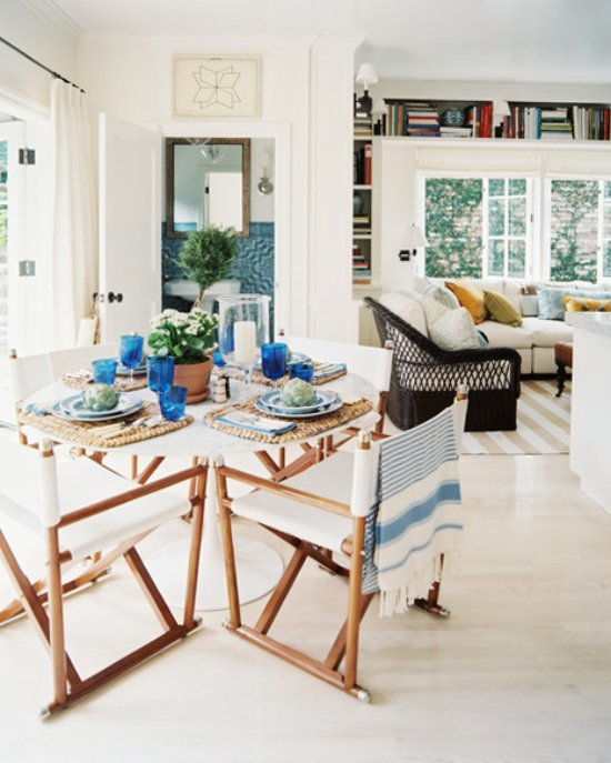 Mark D. Sikes dining area in the kitchen via @thouswellblog