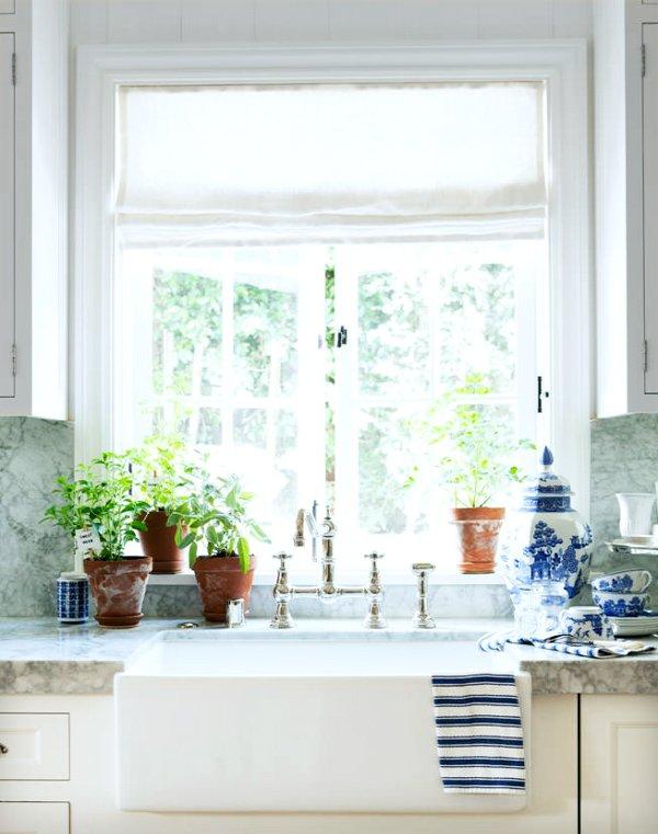 Mark D. Sikes kitchen sink via @thouswellblog