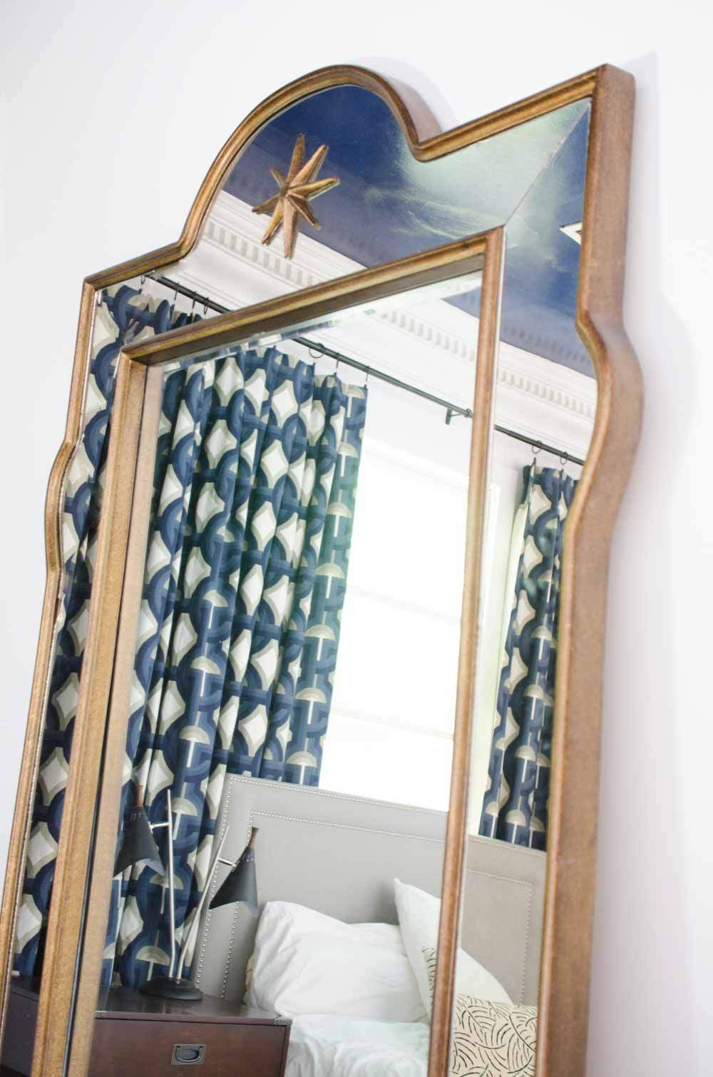 One Room Challenge Juliet Leaner Mirror via Bassett Mirror Company on @thouswellblog