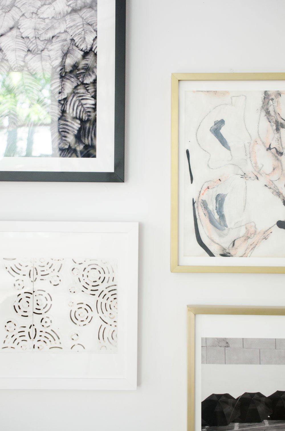 One Room Challenge gallery wall via @thouswellblog
