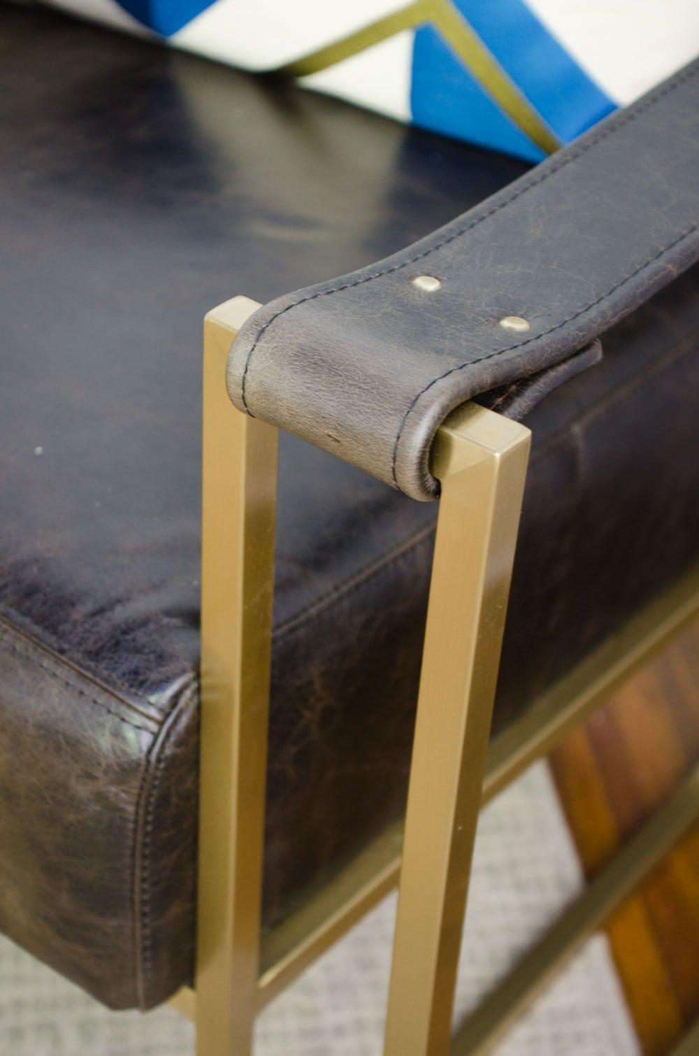 One Room Challenge Dorset sling chair via Lazaro Leather on @thouswellblog