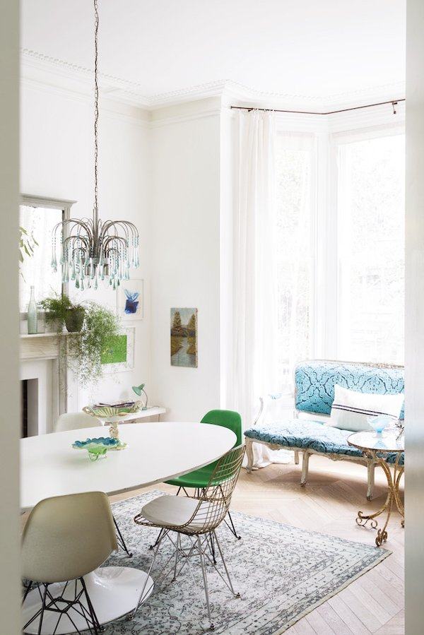 Eclectic Scandinavian style dining room via @thouswellblog