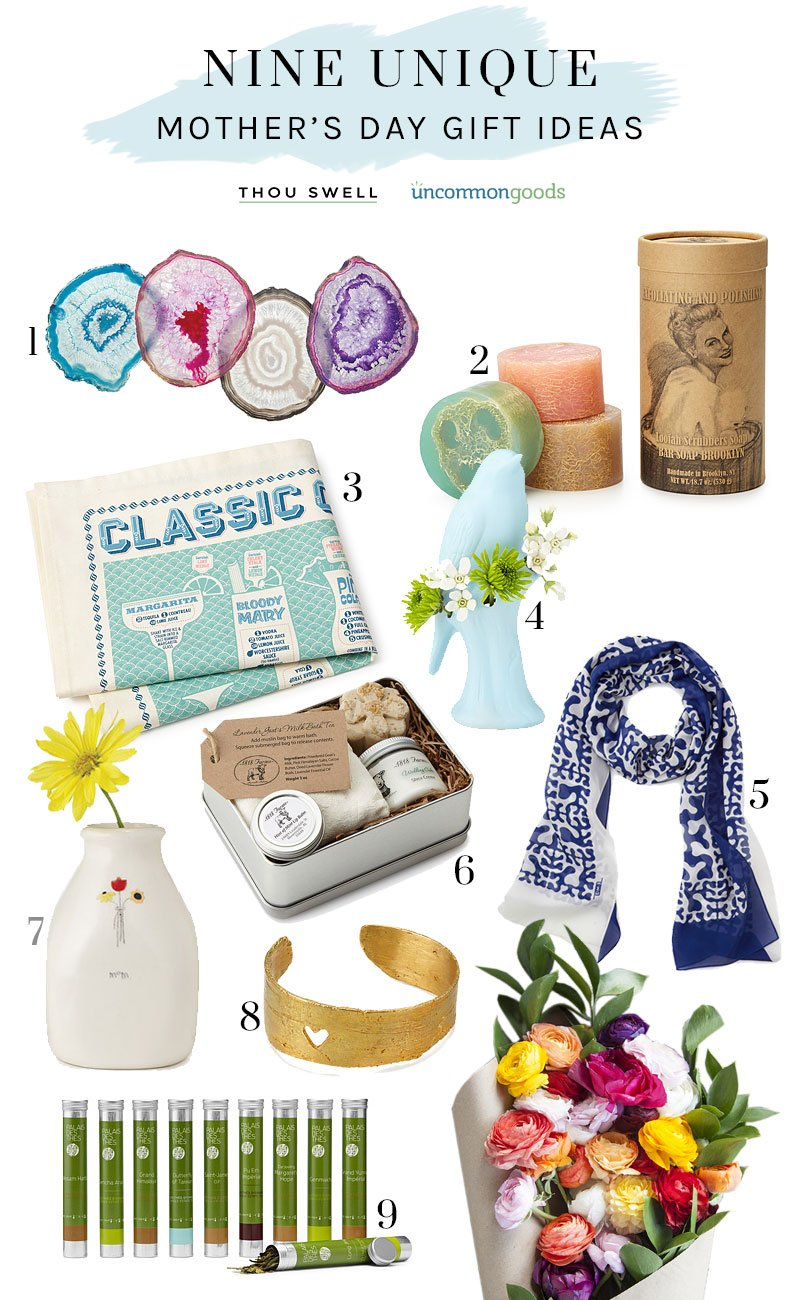 Mother's Day gift guide with Uncommon Goods on @thouswellblog