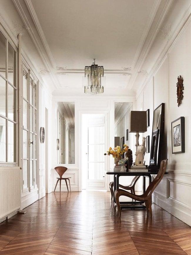 Entry hall in Parisian apartment via @thouswellblog