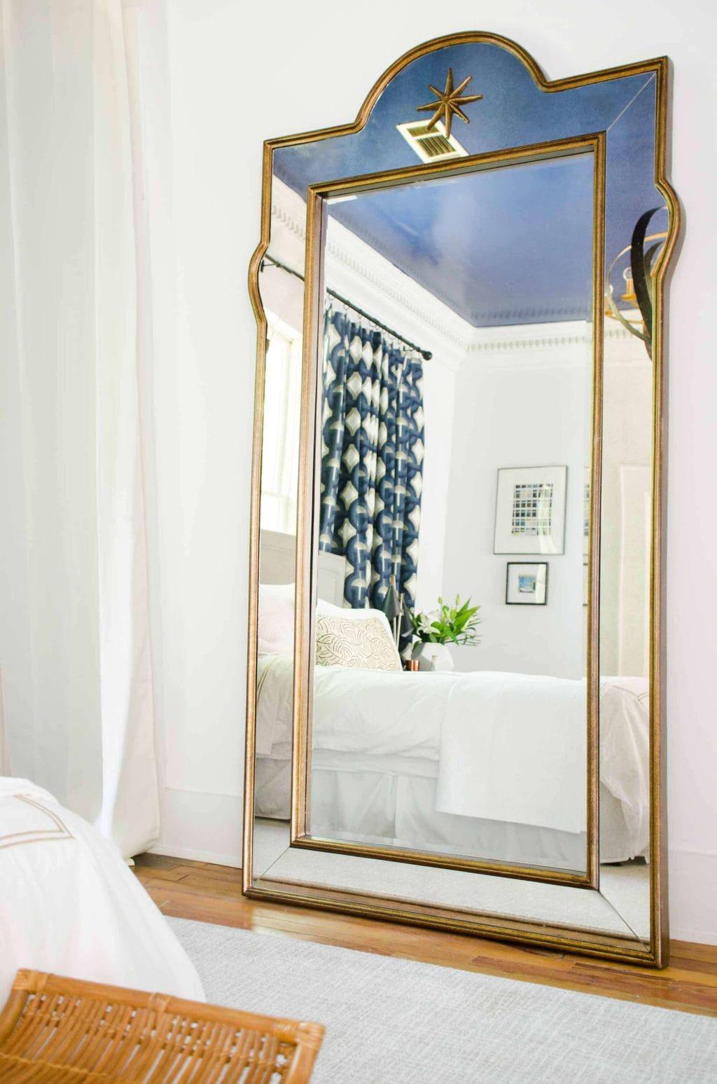 Bassett Mirror Company Juliet Leaner mirror on @thouswellblog