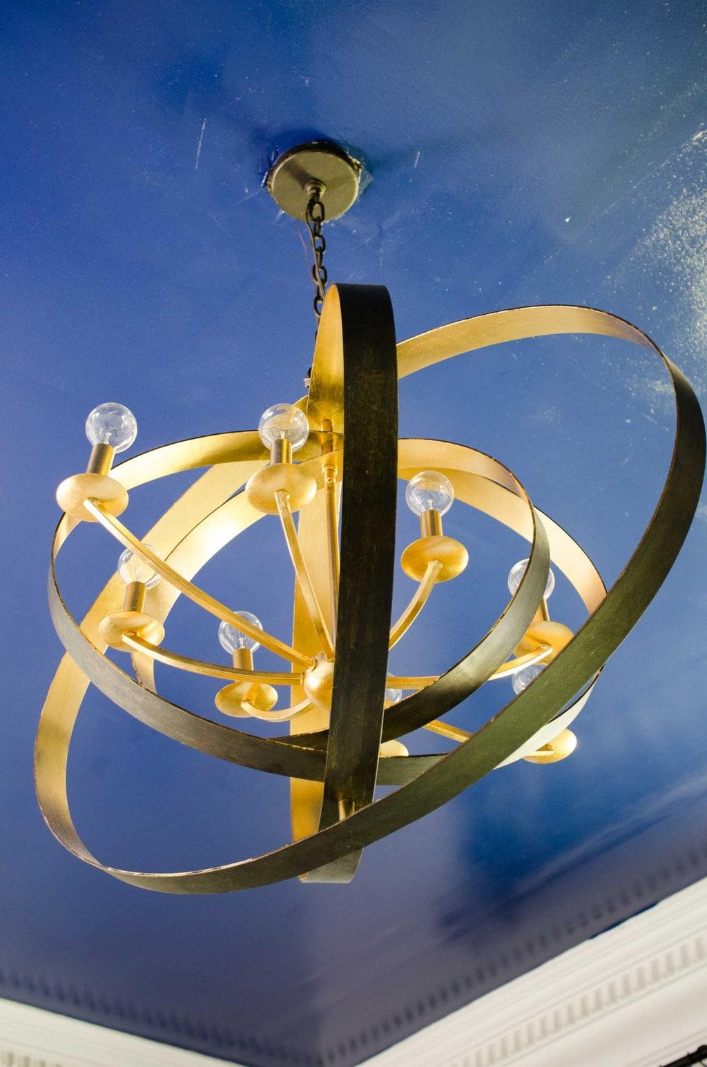 Crystorama Luna chandelier on @thouswellblog