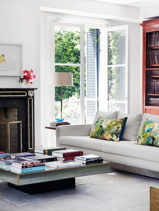 Modern and traditional mix in the living room of a Spanish designer via @thouswellblog