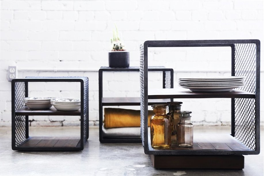 Mesh cube side tables from Furniture Maison on @thouswellblog