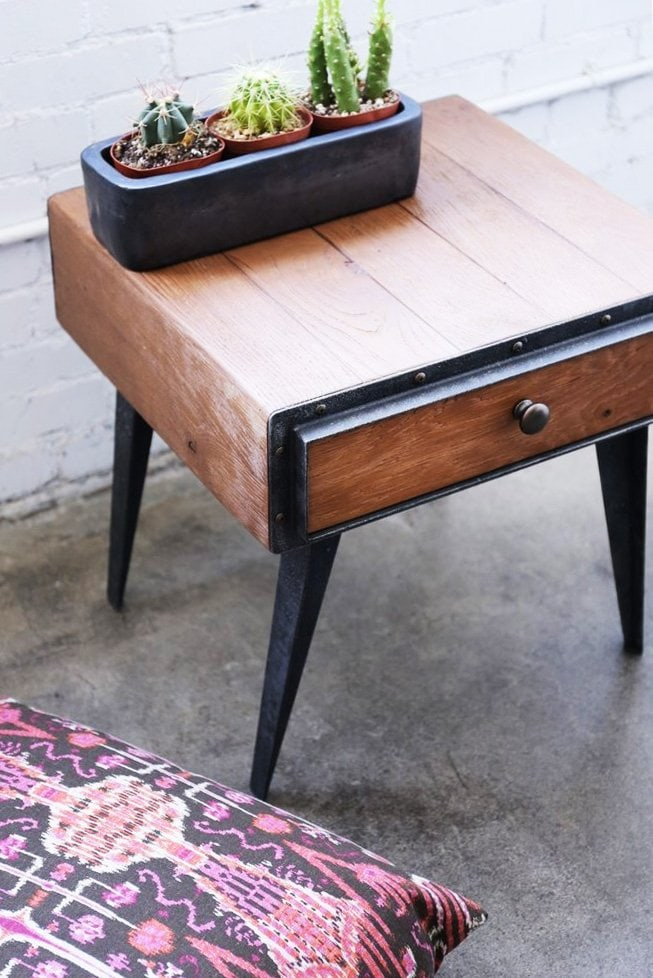 Furniture Maison mid-century modern end table via @thouswellblog