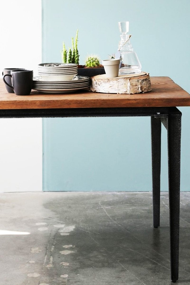Industrial modern dining table from Furniture Maison on @thouswellblog