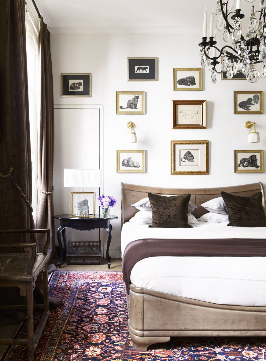 Moody bedroom in a glamorous Paris apartment via @thouswellblog