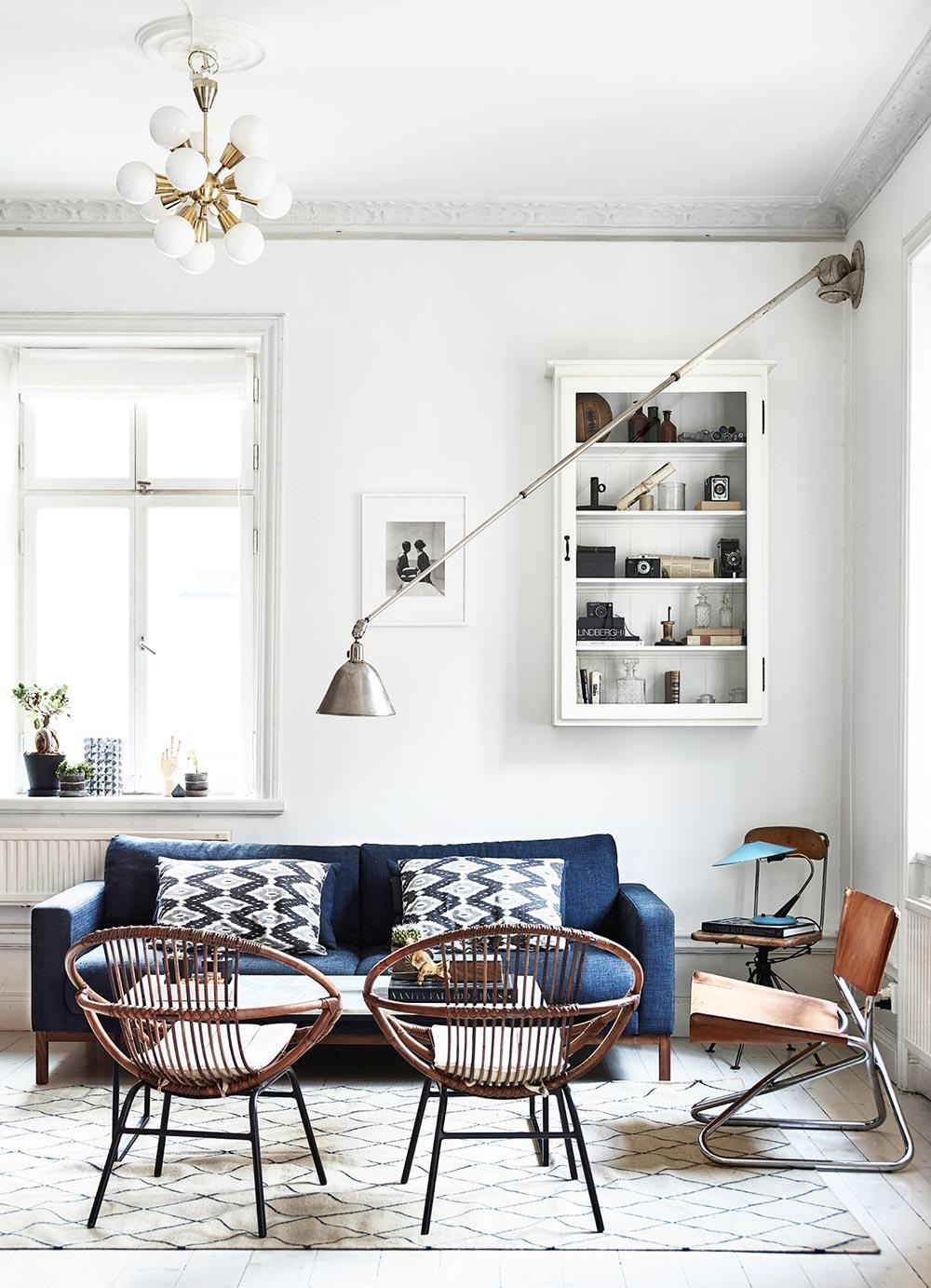 Modern Swedish living room via @thouswellblog