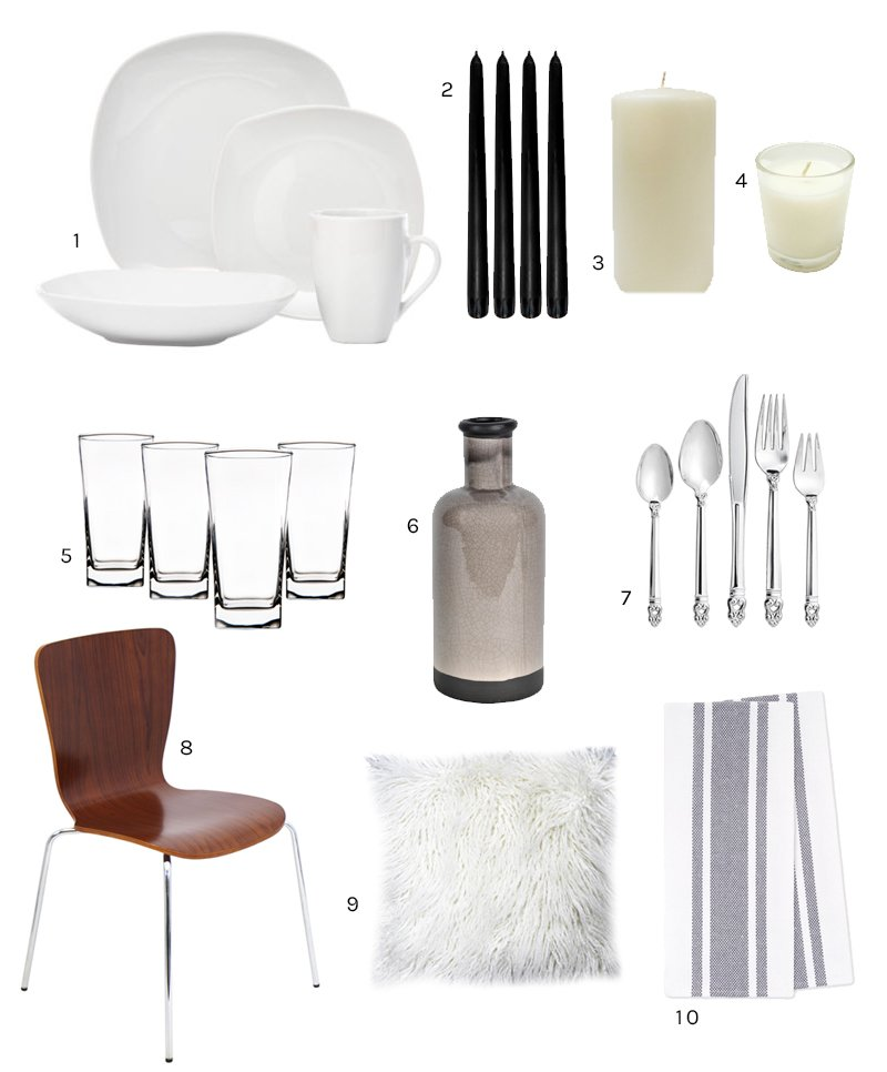 Scandinavian table setting from At Home on @thouswellblog