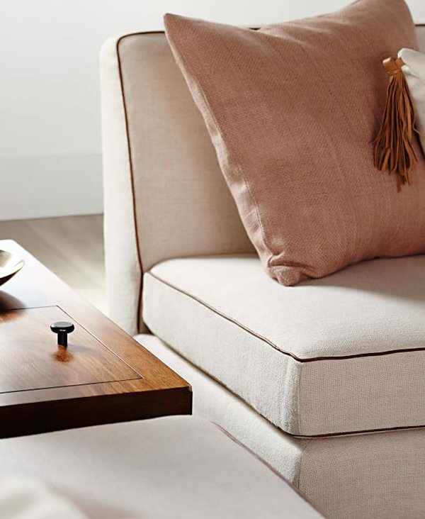 Commune for west elm armless sofa via @thouswellblog