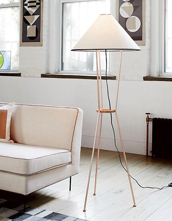Commune for west elm copper tripod floor lamp via @thouswellblog