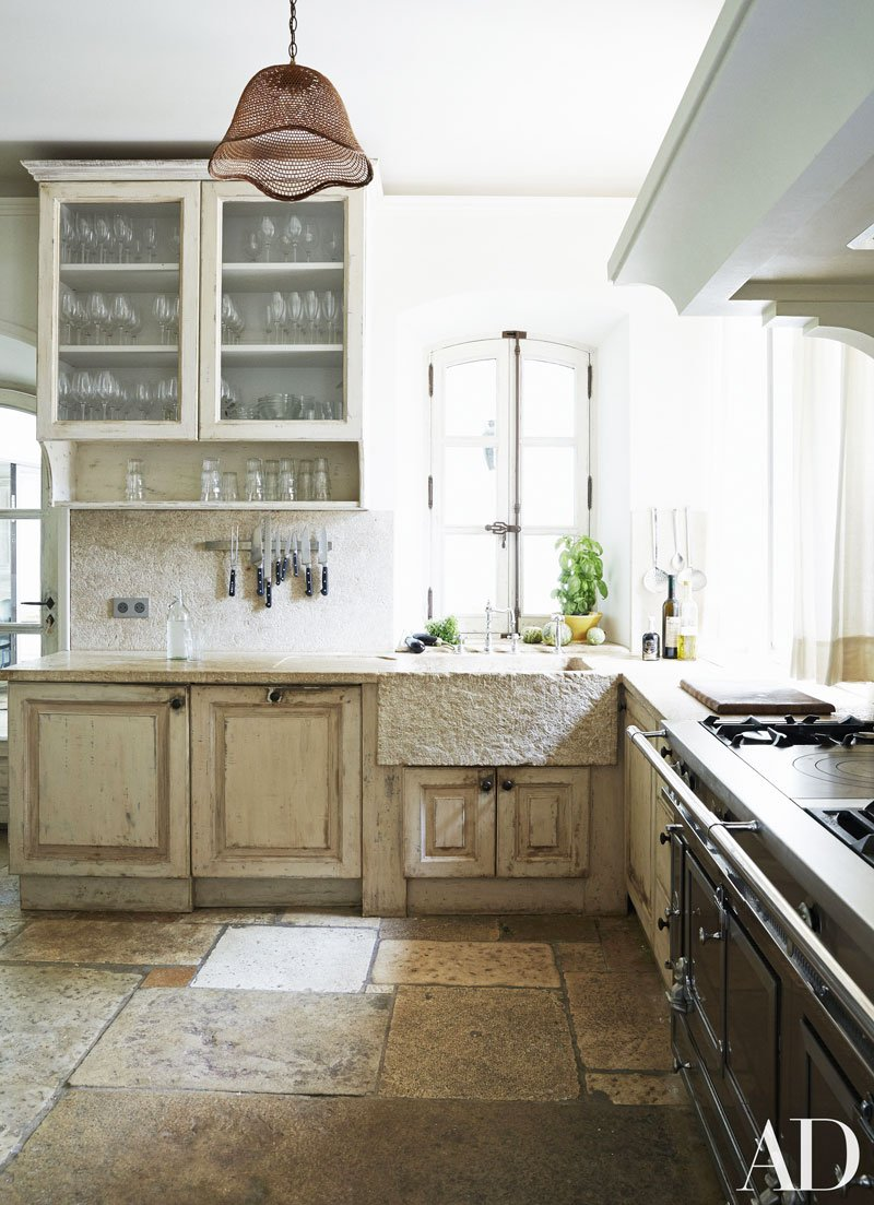 Rustic French kitchen via @thouswellblog