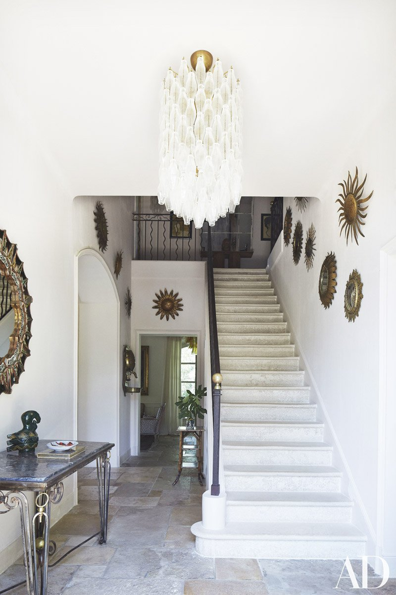 Eclectic entryway in a French home in Provence via @thouswellblog