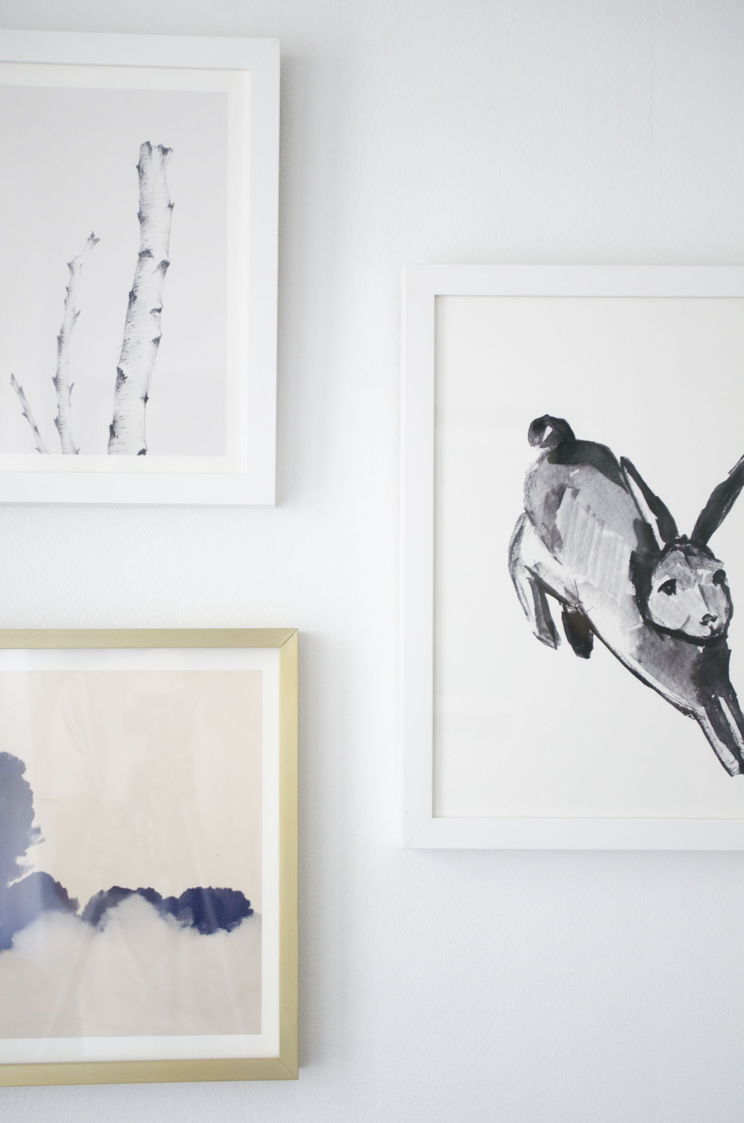 Minted art prints for a bedroom makeover on @thouswellblog