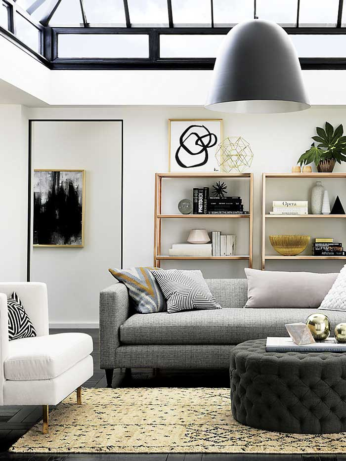 Modern apartment living room via @thouswellblog