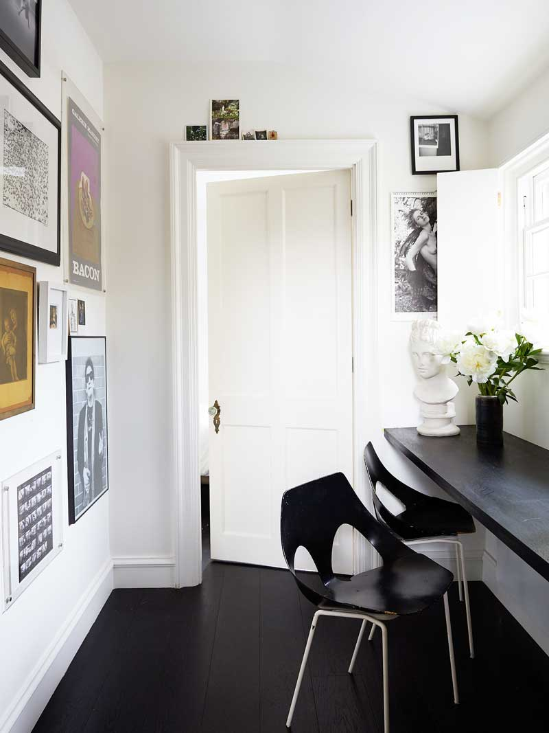 Clean cut modern hallway in London via @thouswellblog