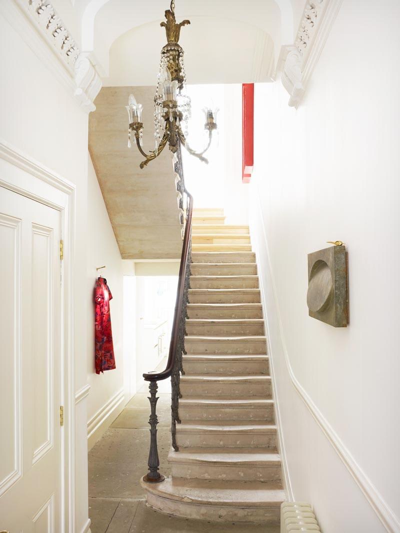 Elegant entryway in a London townhouse via @thouswellblog