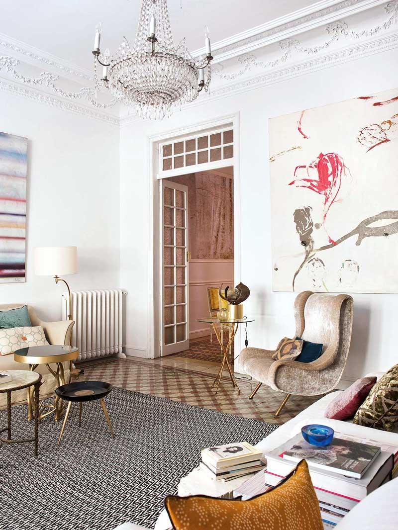 Living room of Spanish photographer Itziar Guzman via @thouswellblog