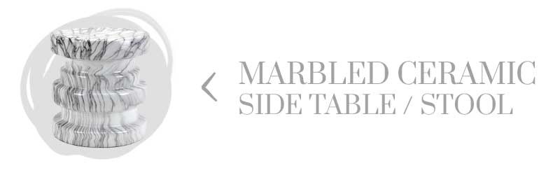 Marble side table from At Home on Thou Swell
