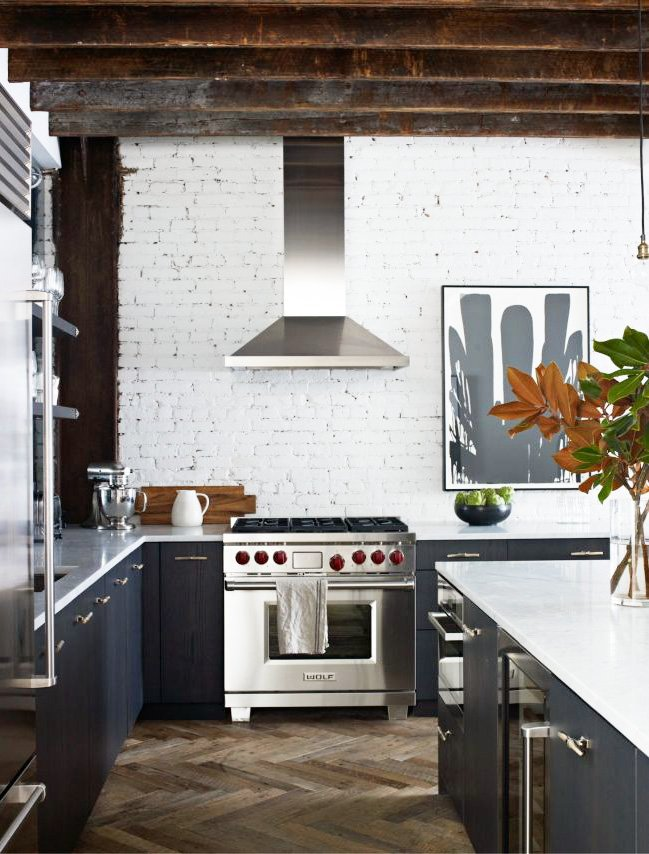 Modern kitchen in a masculine Soho loft via @thouswellblog