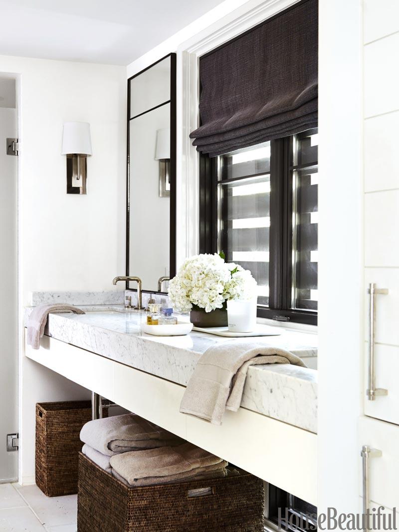Modern bathroom design, Southern home tour via Thou Swell