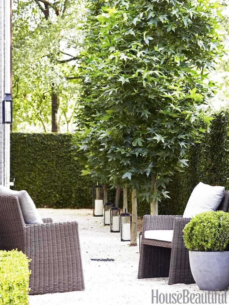 Modern gravel patio design, Southern home tour via Thou Swell