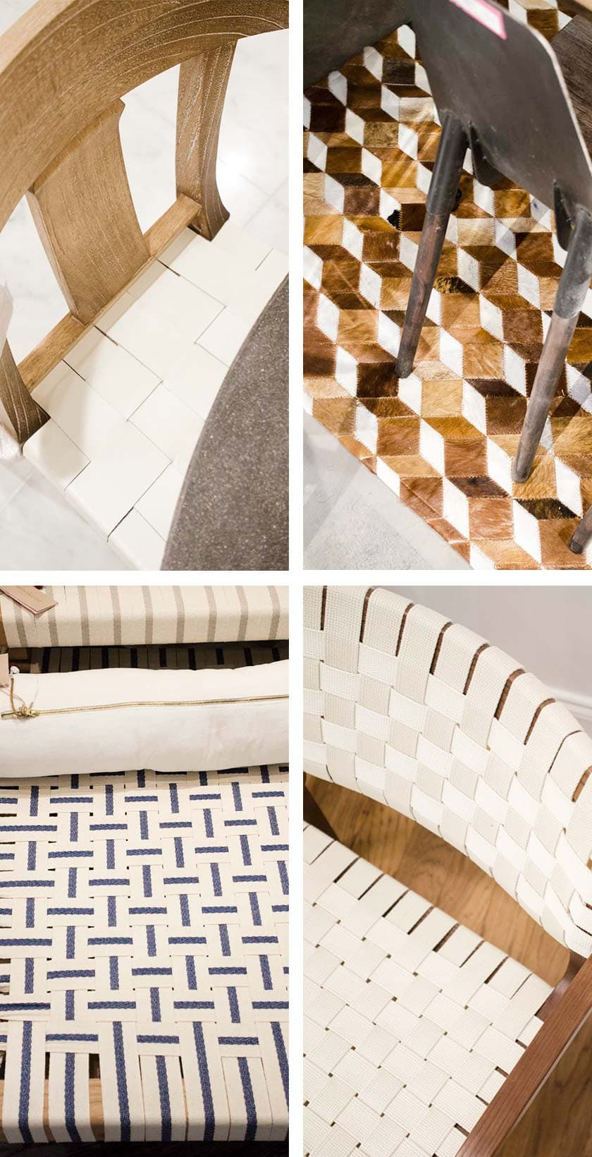 Woven leather and upholstery decor trend from AmericasMart on Thou Swell @thouswellblog