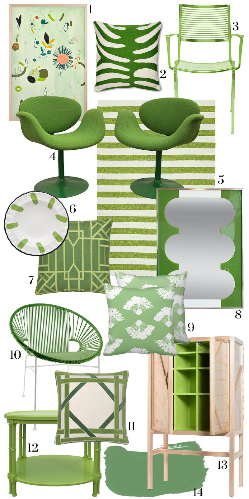 Pantone greenery home decor on Thou Swell @thouswellblog
