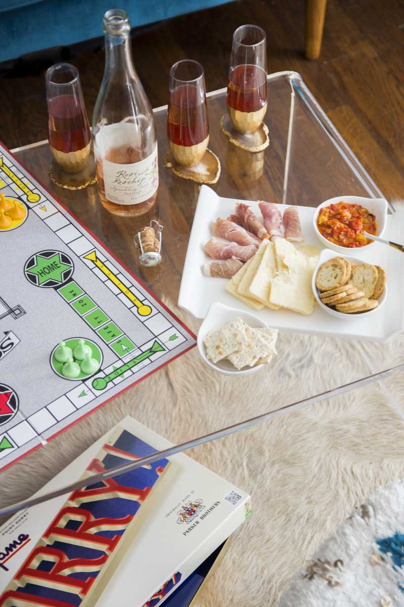 How to host a chic game night with canapés on Thou Swell @thouswellblog