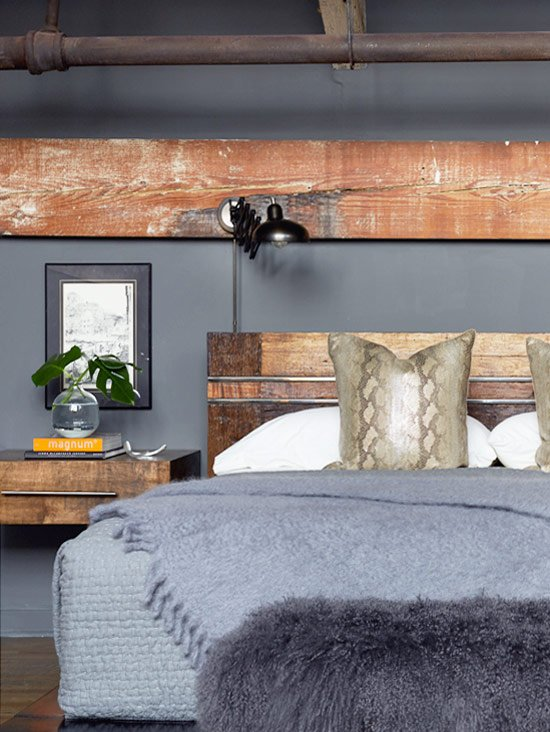 Edgy modern loft bedroom from Atlanta Homes & Lifestyles on Thou Swell @thouswellblog