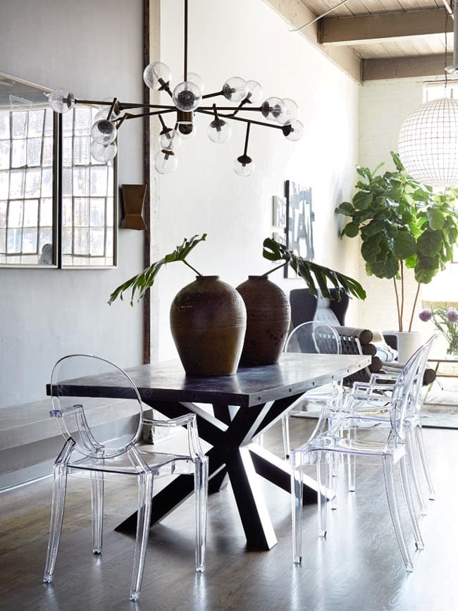 Edgy modern loft dining room from Atlanta Homes & Lifestyles on Thou Swell @thouswellblog