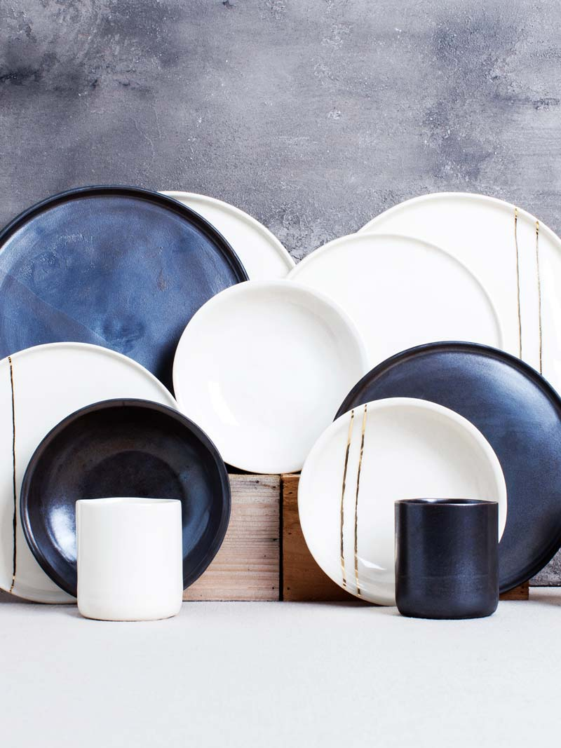 Honeycomb Studio tableware collection handmade in Atlanta, GA on Thou Swell @thouswellblog