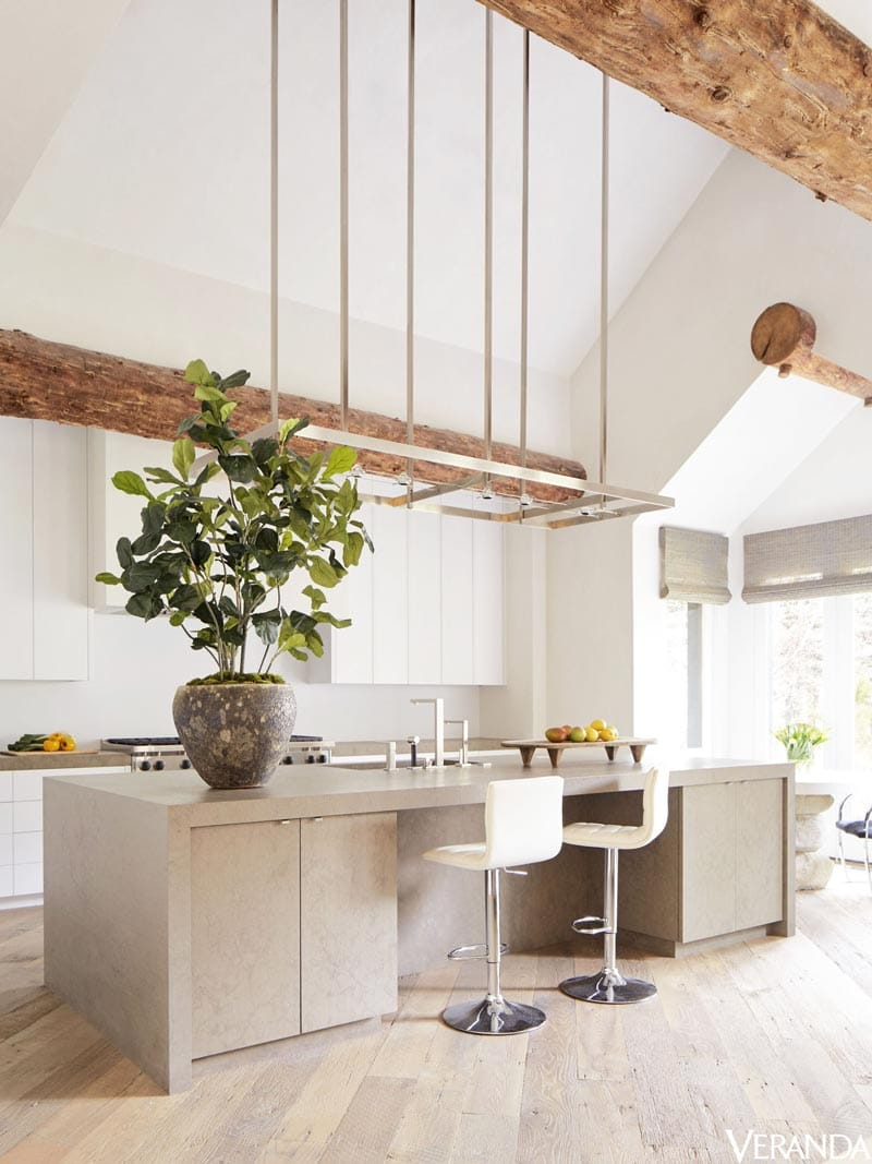 Modern kitchen in rustic mountain house on Thou Swell @thouswellblog