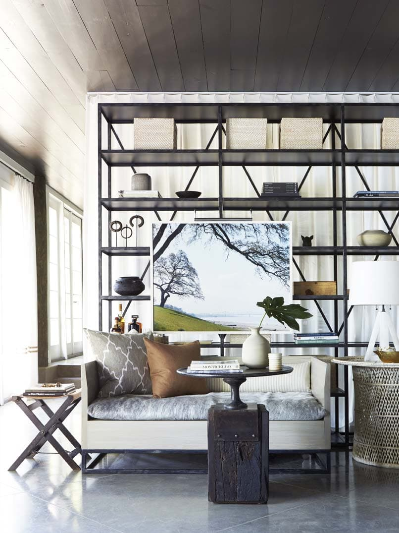 Eclectic living space with modern furniture and vintage touches on Thou Swell @thouswellblog