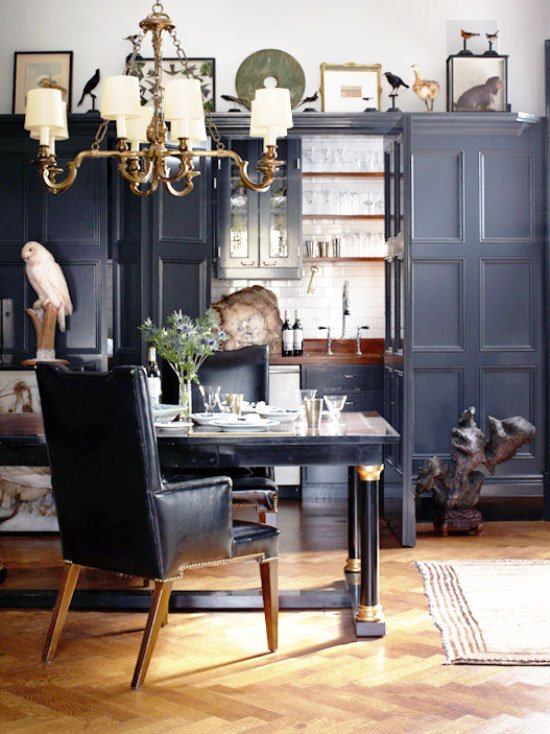 Layered traditional West Village apartment with gray walls in New York City on Thou Swell @thouswellblog