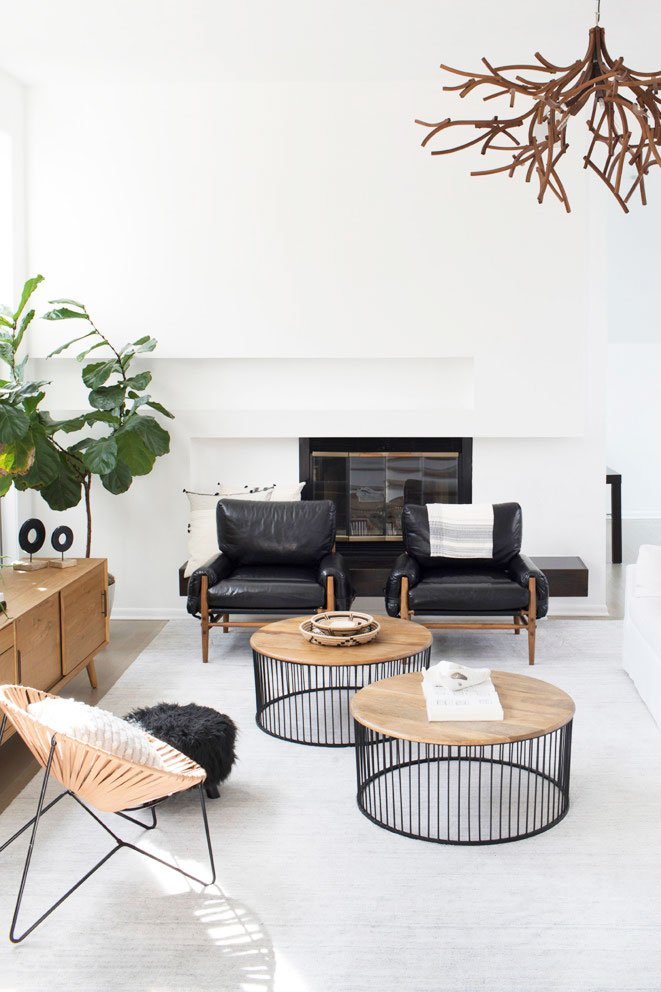 Minimal modern Atlanta living room on Thou Swell @thouswellblog
