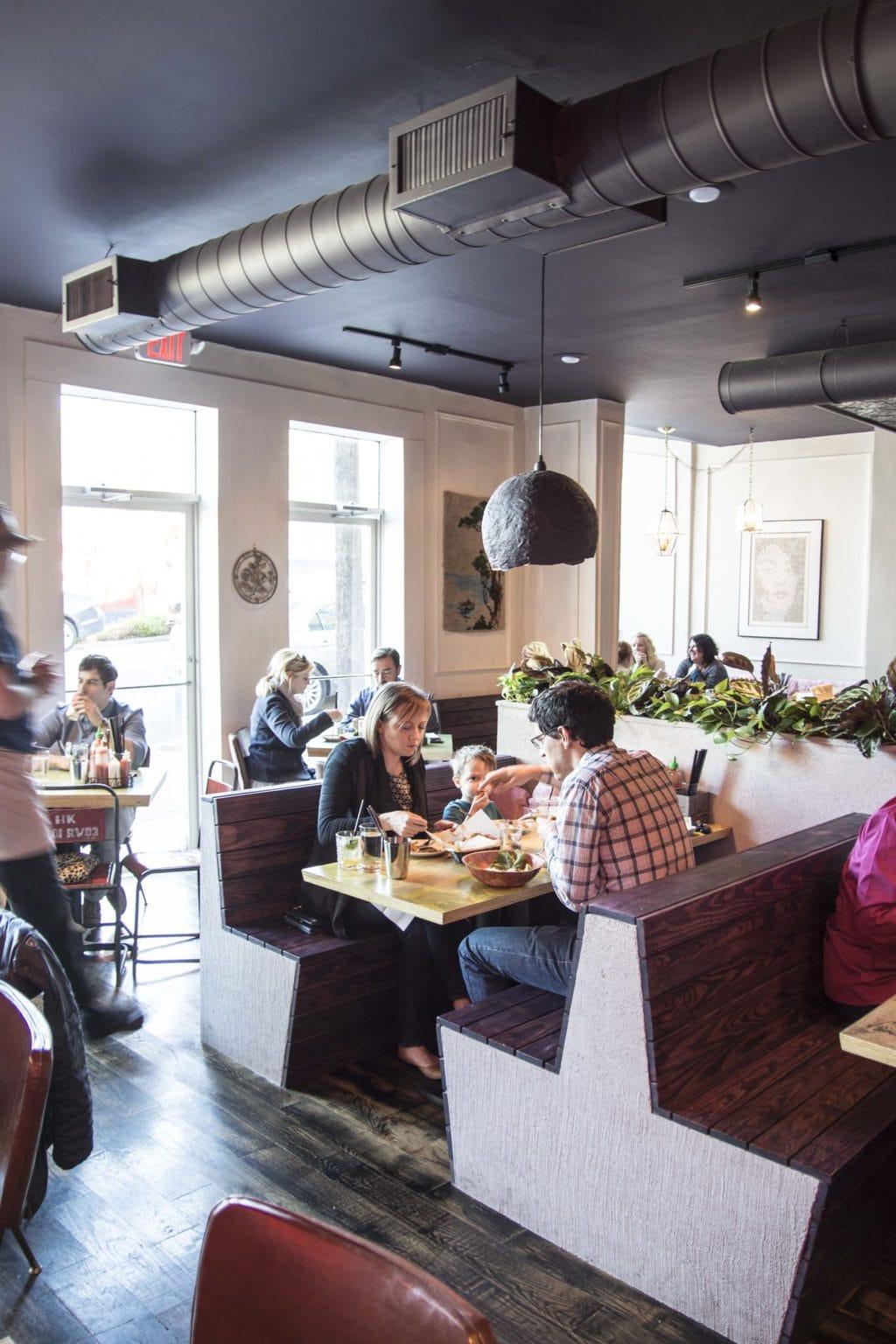 Eclectic restaurant design in Bon Ton in Atlanta on Thou Swell @thouswellblog