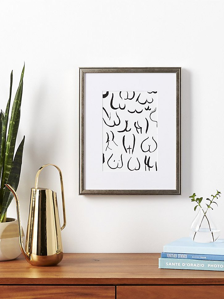 Bums black art print by Kate Worum, Framebridge for CB2 on Thou Swell @thouswellblog