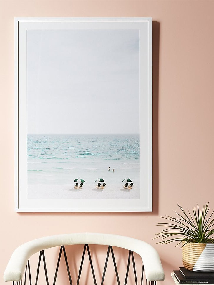 Beach life modern art print, Framebridge for CB2 on Thou Swell @thouswellblog