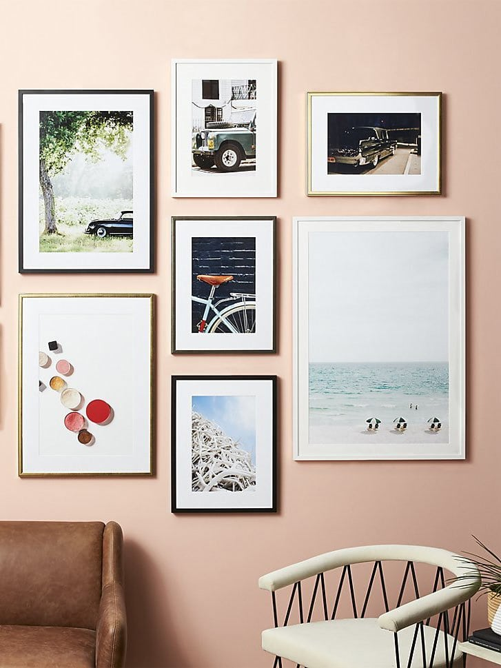Leslee Mitchell modern art print gallery wall, Framebridge for CB2 on Thou Swell @thouswellblog