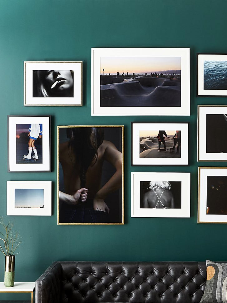 Nicole Cohen modern art print gallery wall, Framebridge for CB2 on Thou Swell @thouswellblog