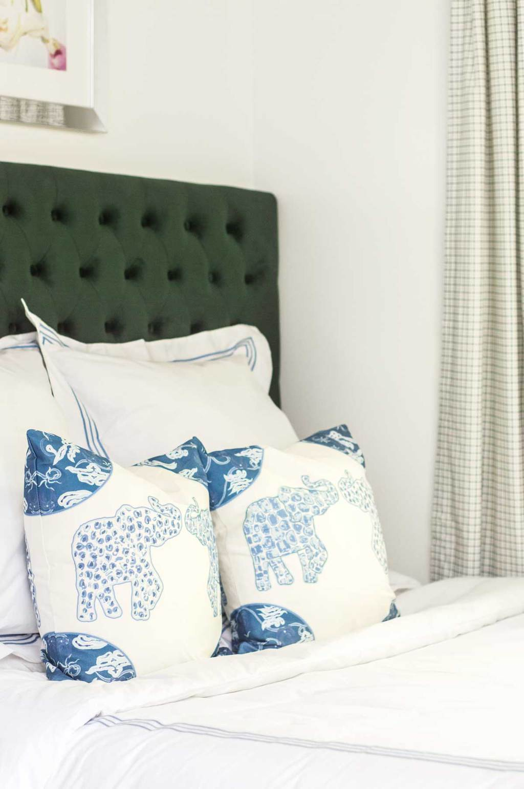 Blue and green bedroom makeover on Thou Swell @thouswellblog