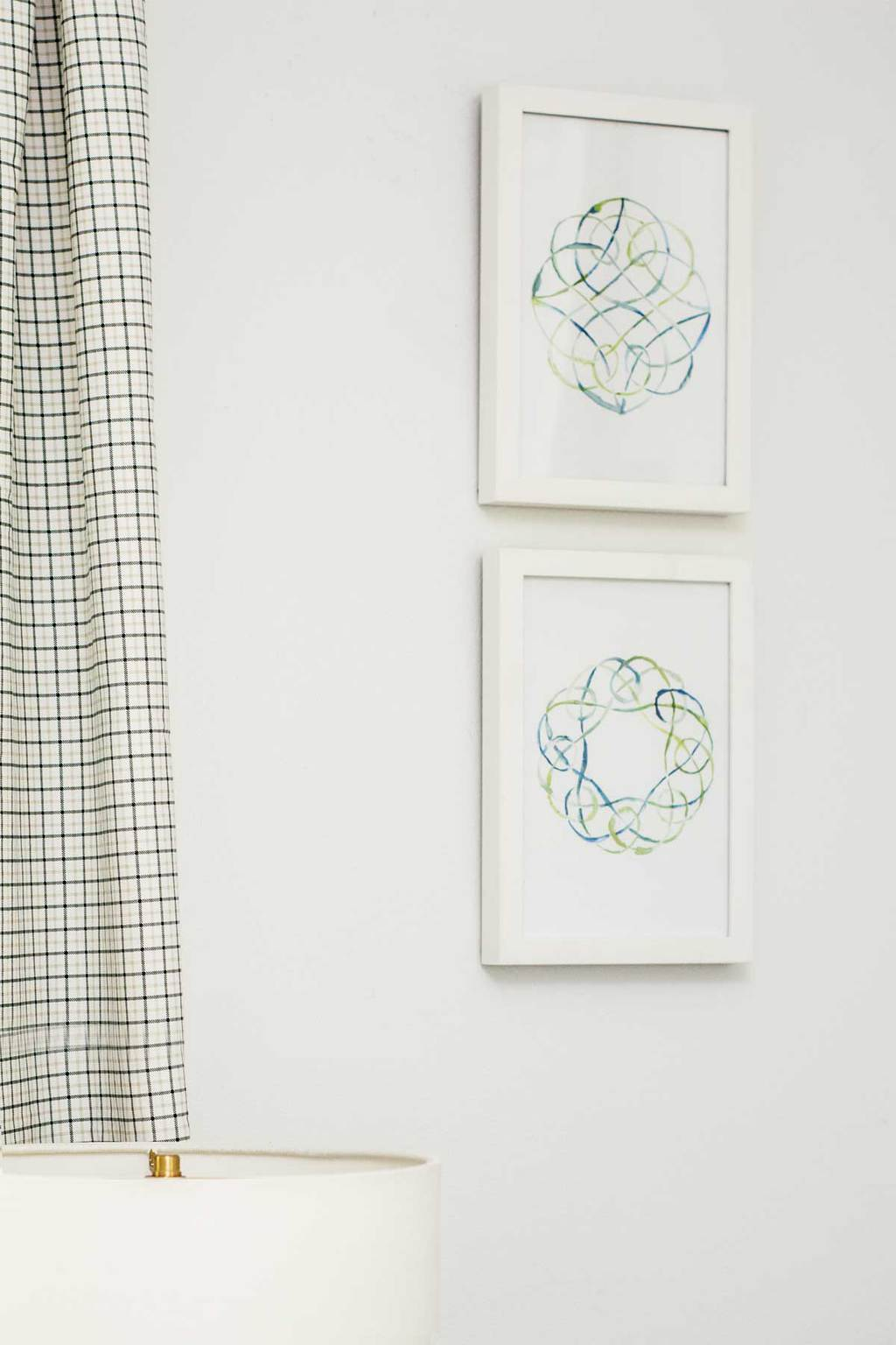 Blue and green watercolor prints on Thou Swell @thouswellblog