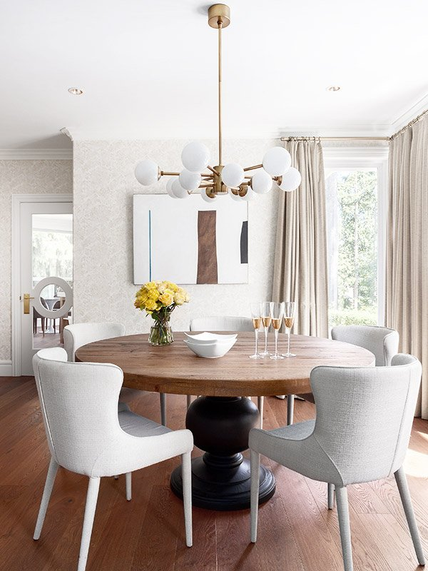 Metrie Fashion Forward glass interior door in modern dining room on Thou Swell @thouswellblog