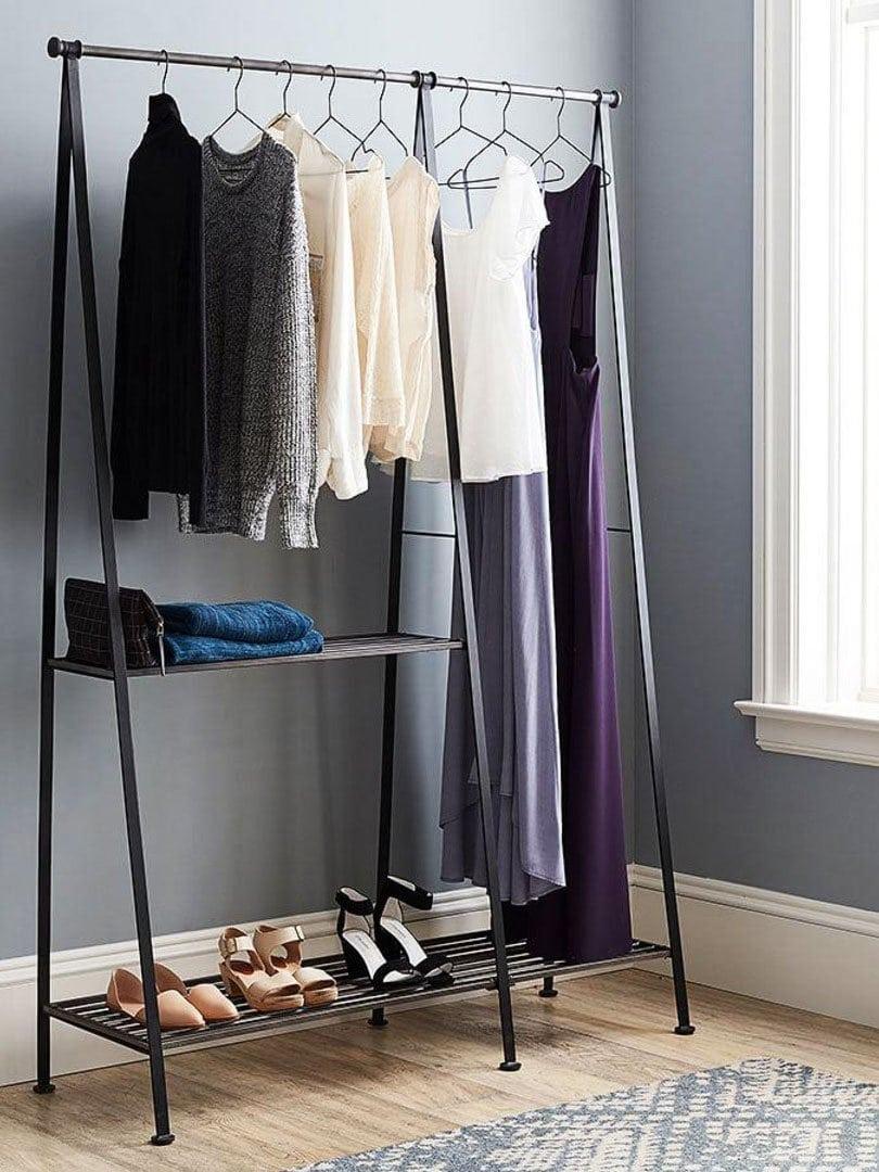 Grey modular clothing rack on Thou Swell @thouswellblog